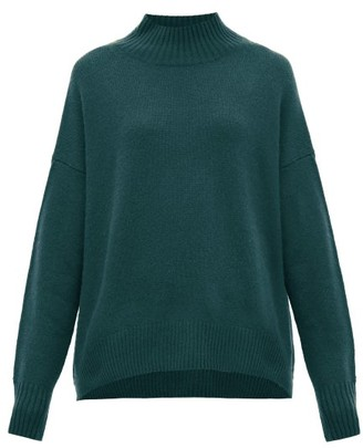 Allude Mock-neck Cashmere Sweater - Womens - Green