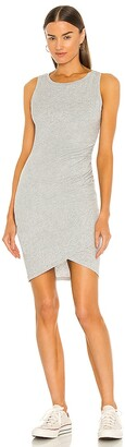 Bobi Supreme Jersey Ruched Bodycon Dress