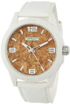 Sprout Men's ST/3401WTWTWT Cork Dial White Tyvek Strap Watch