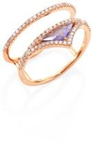 Meira T Diamond, Tanzanite & 14K Rose Gold Ring