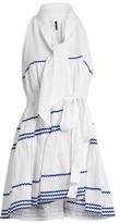 Lisa Marie Fernandez Rickrack-trimmed Linen Mini Dress - Womens - White Multi