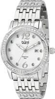 Burgi Women's BUR102SS Analog Display Japanese Quartz Silver Watch