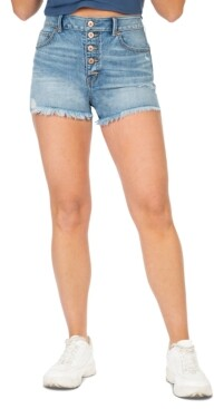 Thumbnail for your product : Rewash Juniors' Super High-Rise Wedge Jean Shorts