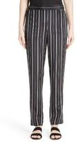 St. John Women's Sahara Stripe Stretch Silk Pants