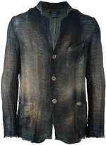 Avant Toi patch pockets blazer - men - Cotton/Linen/Flax - L