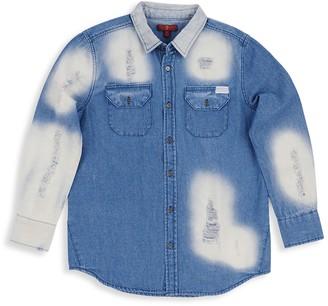 7 For All Mankind Little Girl's & Girl's Oversized Denim Shirt