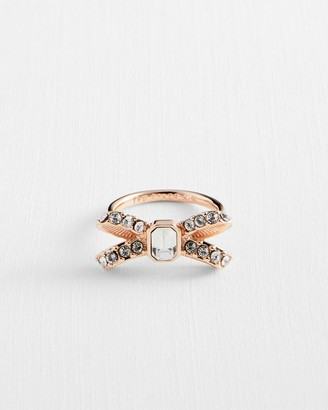 Ted Baker Crystal Sparkle Bow Ring