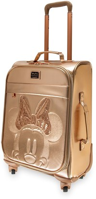 Disney Minnie Mouse Rolling Luggage by Loungefly Briar Rose Gold