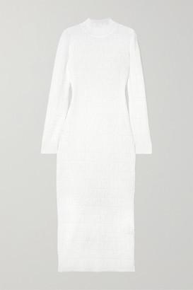 Fendi Cotton-blend Jacquard-knit Midi Dress
