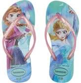 Havaianas Slim Frozen Flip Flops Girls Shoes