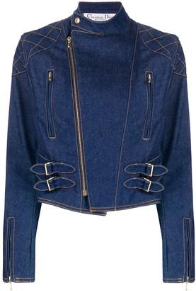 Christian Dior Pre Owned 2000 denim biker jacket
