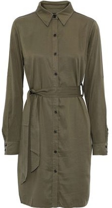 Line Ariel Belted Tencel-twill Mini Shirt Dress
