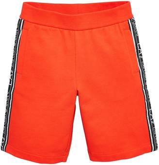 EA7 Emporio Armani Boys Tape Logo Shorts - Red