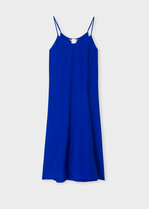 Paul Smith Women's Cobalt Blue Silk-Blend Cami Dress