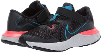 Nike Kids Renew Run (Little Kid) (Black/Light Lime/Smoke Grey) Kids Shoes