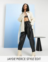 Asos Design DESIGN tapered leather look pants