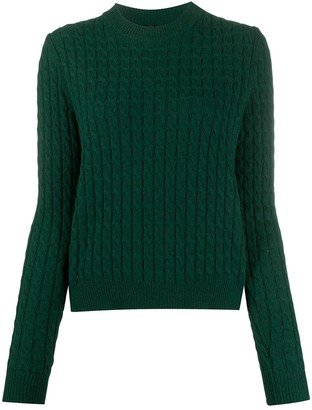 Sara Lanzi Cable Knit Round-Neck Jumper