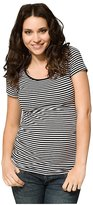 Ripe Maternity Striped Tube Tee - Black/White-XL