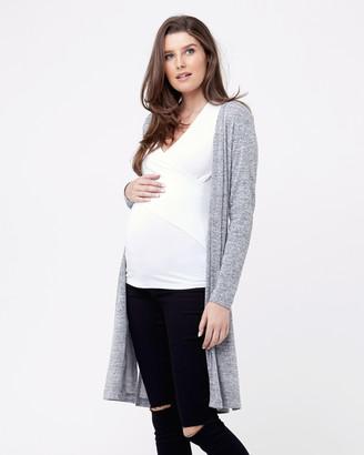 Ripe Maternity Melange Cardi With Splits
