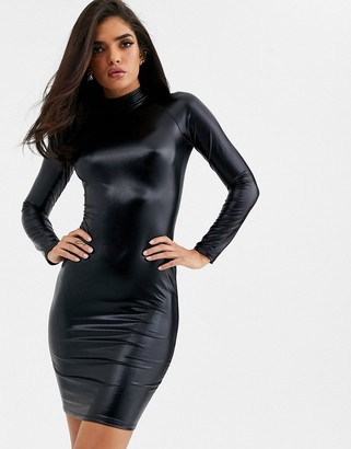 Ann Summers Dominatrix vinyl dress in black