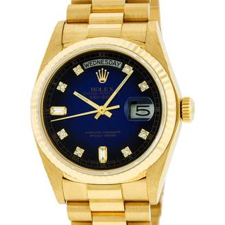 Rolex Day-Date 36mm Blue Yellow gold Watches