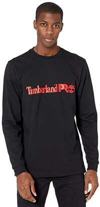 Timberland Base Plate Long Sleeve Graphic T-Shirt (PRO Orange/White) Men's Clothing