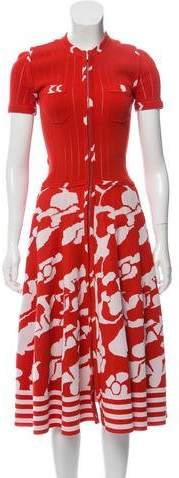 Chanel Patterned Midi Dress
