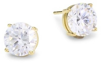 Adriana Orsini 18K Goldplated Sterling Silver & Round Cubic Zirconia Stud Earrings