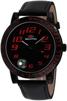 Seapro Mens Raceway Black Leather Strap Watch