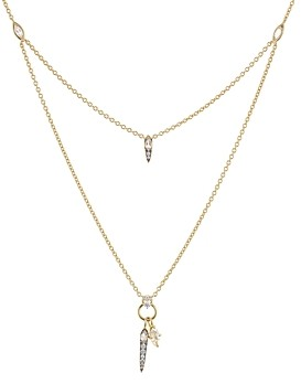 Nadri Sterling Villa Layered Pendant Necklace in 18K Gold-Plated Sterling Silver, 16-18