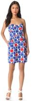 Shoshanna Reilly Strapless Print Dress