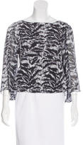 Alice + Olivia Silk Tiger Print Blouse