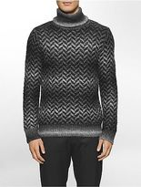 Calvin Klein Mens Ombre Herringbone Turtleneck Sweater