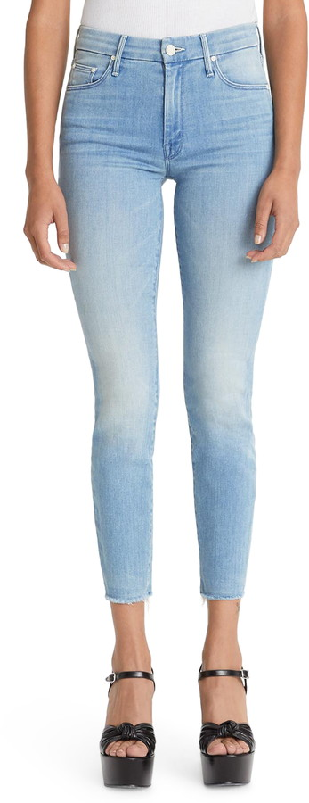 The Looker Fray High Waist Ankle Skinny Jeans by The Looker Fray High Waist Ankle Skinny Jeans