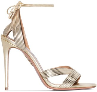 Aquazzura Ari 105mm leather sandals