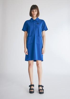 Stussy Women's Short Sleeve Dress in Blue, Size Small | Spandex