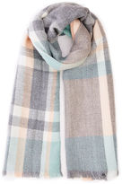 Oasis Grey Pastel Check Scarf