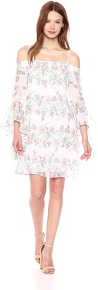 Kensie Dress Women's Printed Off The Shoulder Dress