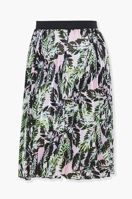 Forever 21 Plus Size Leaf Print Skirt
