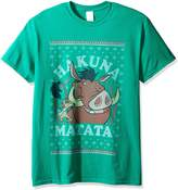 Disney Men's Hakuna Matata Ugly Christmas T-Shirt