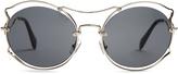 Miu Miu Cat-ear shaped sunglasses