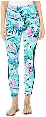 Lilly Pulitzer 24 High-Rise Weekender Leggings (Maldives Green Hype It Up) Women's Casual Pants