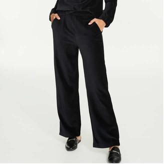 Joe Fresh Women's Corduroy Velour Pants, JF Black (Size L)