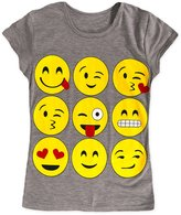 Exciteclothing Girls Emoji Short Sleeved T Shirt