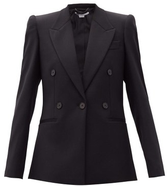 Stella McCartney Callie Double-breasted Wool Blazer - Black