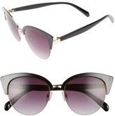 BP Women's 50Mm Cat Eye Sunglasses - Black/ Gold
