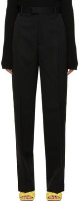 Bottega Veneta Black Wool Straight Trousers