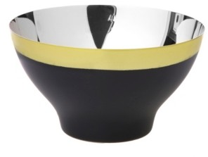 Classic Touch Two Tone Stainless Steel Serving Bowl