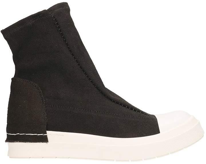 Cinzia Araia Stretch Slip Black Sneakers