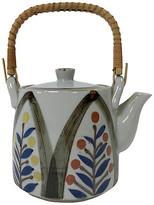 One Kings Lane Vintage Japanese Teapot - Tobe Reed - gray/brown/blue/gold